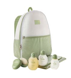 Conjunto prático com itens para o cuidado diário do bebê.