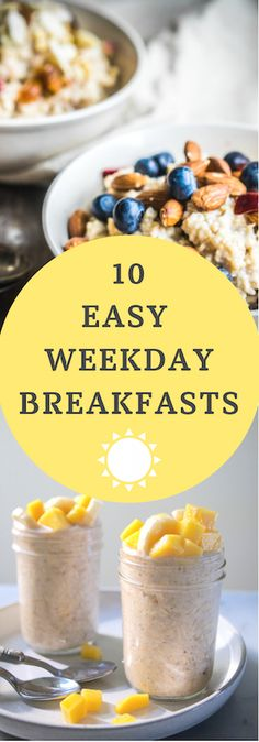 10 Easy and Healthy Weekday Breakfasts for kids, adults, and families - Mom's Kitchen Handbook