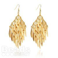 Dream Titania Gold Earrings, a stunning design with full step by step instructions: http://www.beadsdirect.co.uk/gallery/detail/dream-titania-gold-earrings/