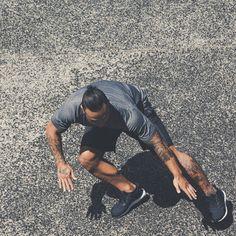 Get faster - get stronger - men inspiration motivation run sprint fitness health strength menswear bayse luxe activewear