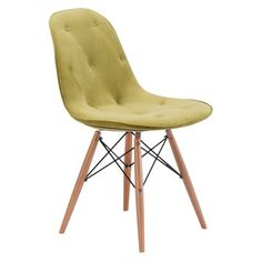 Probability Dining Chair Wood/Green - Zuo