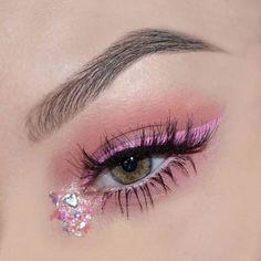 Valentines Look EYES: Morphe Brushes pink shadows from the palette NYX Professional Makeup Vivid Brights Liner in 'Vivid Petal' KoKo Lashes in 'Queen B' BROWS: Anastasia Beverlyhills DipBrow in 'Taupe' Ready, Set, Go Browgel Makeup Eye Looks, Eye Makeup Art, Eyeshadow Makeup, Pink Eyeliner, Makeup Drawing, Kawaii Makeup, Cute Makeup, Pretty Makeup, Makeup Goals