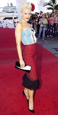 Gwen Stefani's Style Evolution: August 29, 2004, I loved her in this outfit.