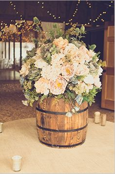 Wine Barrel Wedding Decoration