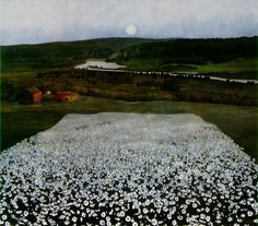 """Flower Meadow in the North"" by Harald Sohlberg"
