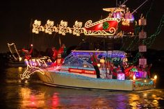 Christmas Boat Parade in Bradenton, Florida
