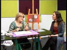 Técnica pintura con gesso y acrílico - YouTube