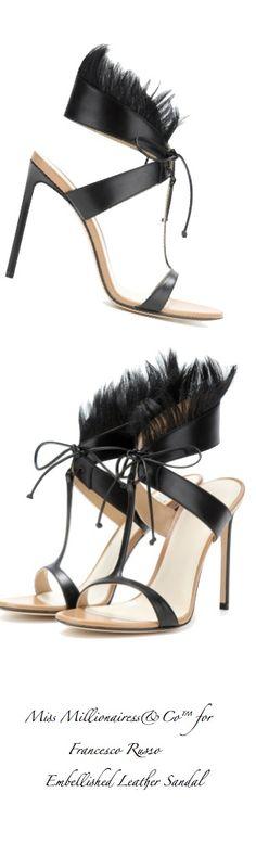 Francesco Russo - Embellished Leather Sandal 'Walk On The Wild Side' 2015