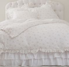 All white sheets + tufting= a must