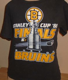 96dc8dd68721 vintage 1988 Boston Bruins stanley cup hockey t shirt MEDIUM by  vintagerhino247 on Etsy Boston Bruins