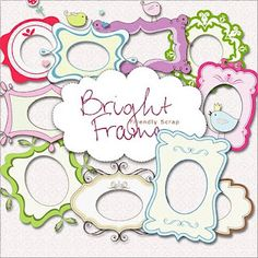 Sorting activity - all the green frames, etc. free bright frames set