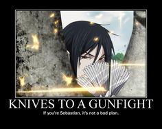 funny black butler | Tags: Anime, Kuroshitsuji, Sebastian Michaelis, Silverware, Butler