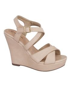 04016374cdb2 Look at this  zulilyfind! Beige Guide Wedge by TOP MODA  zulilyfinds High  Wedges