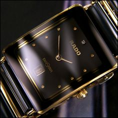 Rado Watch  (Men's Pre-owned Watches, Diastar Black Ceramic Gold & Titanium)