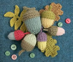 Knot Garden: September Knitted Acorns