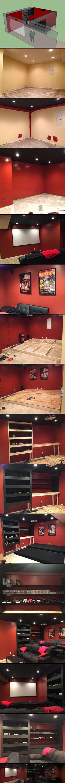 Basement Home Theater Build! [21 PICS]