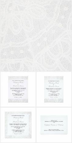 White Lace Wedding / Party / Event Invitations from Be There Invitations and Janusian Gallery