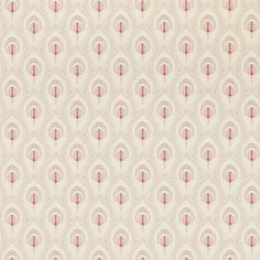 Montague Ruby Feather Wallpaper