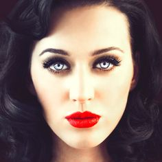 Katy Perry. love the hair & makeup! #blue eyes
