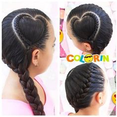 Es mes de #sanvalentin empezamos con este hermoso #tbt #trenza en #corazon solo en #colorin #peluqueria #cucuta #braid #braids #girls #girl #hair #tresses #hair #treccia Baby Girl Hairstyles, Plaits Hairstyles, Pretty Hairstyles, Ethnic Hairstyles, Kids Braided Hairstyles, Hair Up Styles, Natural Hair Styles, Girls Braids, Braids For Kids