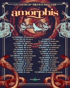 "Finnish Death Metallers Amorphis have some ""breaking news"" to announce - their first return to trek across North America in almost ten years. They've had"