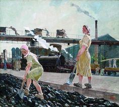 Alexander Aleksandrovitsj Dejneka (1899-1969)-Donbass. 1947 Moskou, staat Tretjakovgalerij