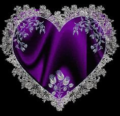 Purple heart - Be my Valentine Forever! Purple Love, All Things Purple, Shades Of Purple, Deep Purple, Purple Stuff, Purple Hearts, Purple Satin, Purple Glass, I Love Heart