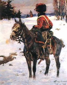 """Hussar of the Great Army"", 1907, oil on canvas, 169.5 x 135 cm, private collection"
