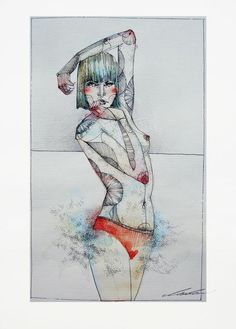 Colour Watercolour II by Juli Jah, via Behance