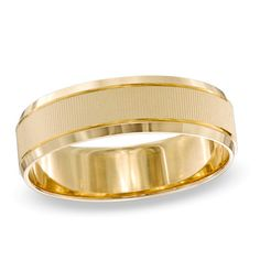 Men's 6.0mm Wedding Band in 10K Gold