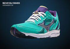 Mizuno Womens Crusader 9 Athlectic Running Shoes Sneakers MZ-K1GL150493-00S7,7.5 #Mizuno #RunningCrossTraining