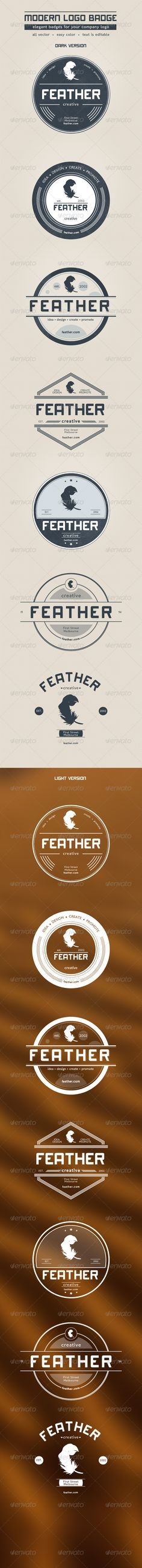 Modern Logo Badge  #dark #eps #label • Available here → http://graphicriver.net/item/modern-logo-badge/1042978?s_rank=1282&ref=pxcr