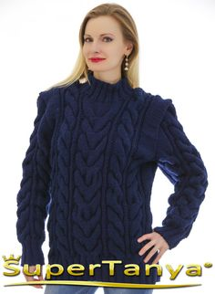MADE TO ORDER thick hand knitted wool sweater in by supertanya