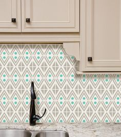 Tyles vinyl decal backsplash and wall decor product in our Everything's Jake pattern. Great for kitchens, bathrooms, or any wall in your home or business.