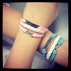 Best Friend Bracelets :) Bff Bracelets, Best Friend Bracelets, Best Friends, Fashion, Beat Friends, Moda, Friendship Bracelets, Bestfriends, Fashion Styles
