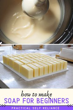 How to Make Soap ~ Soap Making for Beginners - - Soap making is a fun craft that's easy to master, provided you have good attention. Soap Making Recipes, Homemade Soap Recipes, Savon Soap, Soap Tutorial, Goat Milk Soap, Cold Process Soap, Handmade Soaps, Diy Soaps, Home Made Soap