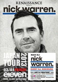 Renaissance Nick Warren Japan Tour