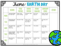 Tons of fun and creative Earth Day themed ideas and activities for tot school, preschool, or the kindergarten classroom.