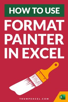 Excel Format Painter allows you to quickly copy formatting from any cell or range of cells and paste in any other location. It's an amazing tool that can save you a lot of time. It also allows you to quickly copy conditional formatting and paste it in a different range of cells. In this article, I cover how you can activate and use format painter in Excel Microsoft Excel, Microsoft Office, Excel For Beginners, Excel Hacks, Bookkeeping Business, Pivot Table, Skills To Learn, Cheat Sheets, Mathematics