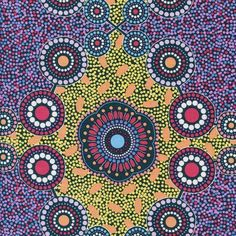 Meeting Places Black Australian Aboriginal Quilt Fabric M & S Textiles Textile Fabrics, Aboriginal Art, Surface Pattern Design, Fabric Online, Textures Patterns, Abstract Art, Quilts, Retro, Wallpaper