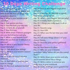 Selfmade 30 days writing challenge! Give it a try! :D
