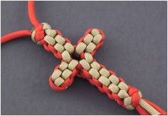 The Beading Gem's Journal: How to Make a Paracord Knotted Cross Necklace