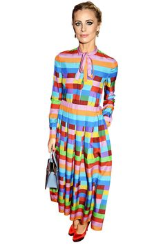 Laura Bailey's rainbow Valentino makes me foam at the mouth. I'm very, very jealous.   - HarpersBAZAAR.com