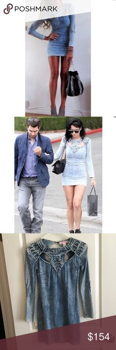 Rare! fashion against aids denim dress from H&M 😍 Super rare sold out dress from H&M as seen on Katy Perry from the fashion against aids collection, that launched in 2012 purchased in Milan, Italy. Worn once, amazing dress! Size 4 H&M Dresses Mini
