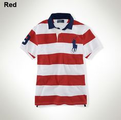 Ralph Lauren Leisure Breathable Cotton Black Red Stripe Polo