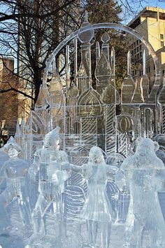 St. Paul Winter Carnival Ice Sculpture in Rice Park