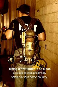 I love being a firefighter.