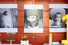 first birthday party: I ordered the prints from staples from their site- they are engineering prints and they come in 3 sizes. This was the middle size, I think it was 24×36. $7 for all 3! I've heard that some staples are telling people not to print photos this way (uses too much ink?) but I've done it a few times and they have never told me I couldn't.