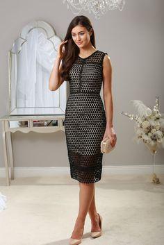 Rhonda Black Midi Dress
