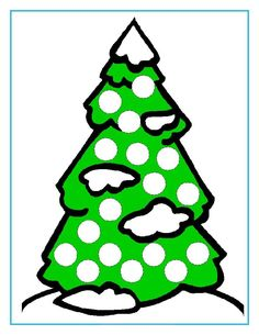 Winter theme pages for dot markers or magnet placement Preschool Christmas, Christmas Activities, Christmas Crafts For Kids, Christmas Tree, Do A Dot, Theme Noel, School Art Projects, School Themes, Coloring Book Pages